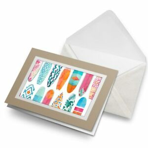 Greetings-Card-Biege-Pretty-Surfboards-Surfing-2481