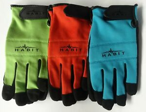 3-Pack-Habit-Multi-color-Polyester-Spandex-Work-Gloves-by-Plainsman-EX-LARGE-NEW