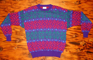 90s-Sweater-Vintage-United-Colors-of-Benetton-SnowFlake-Sweater-made-in-Italy
