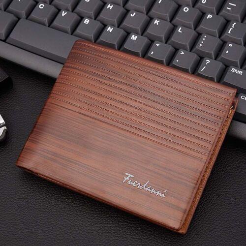 1PC Men/'s Leather Bifold Wallet ID Credit Card Holder Mini Purse Money Clip