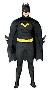 Costume-Carnevale-Halloween-Uomo-Pippistrello-Batman-80767-tg-Unica-NUOVO
