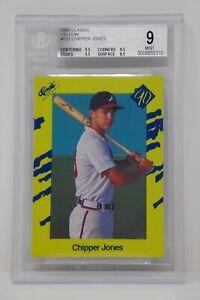 1990 Classic Yellow #T92 Chipper Jones Rookie Braves 🔥 Beckett 9 MINT