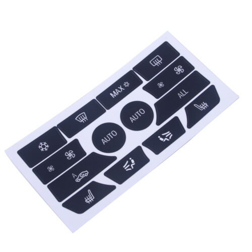 Climate Control Button Repair Decal Interior Stickers Dash Fit for BMW 5 Series