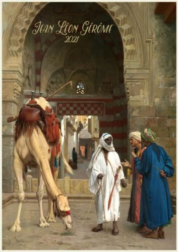12pg A4 Oriental Arabian Night Gerome Museum Painting M1457 2021 Wall Calendar