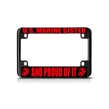 Proud Sister Of A Marine Military Novelty License Plate Ebay