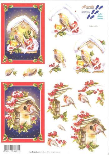 Feuille 3D à découper A4 Oiseau Rouge Gorge 8215.125 Decoupage Robin Bird