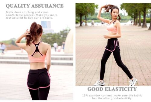 Details about  /Women Yoga Fitness Stretch Workout Seamless Racerback Padded Sports Bra Tank Top