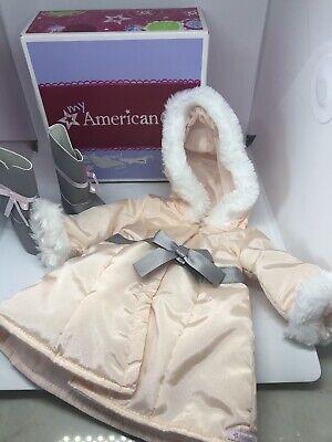 NEW American Girl PRETTY PINK COAT  Boots Charm Winter Jacket Parka  RETIRED NIB