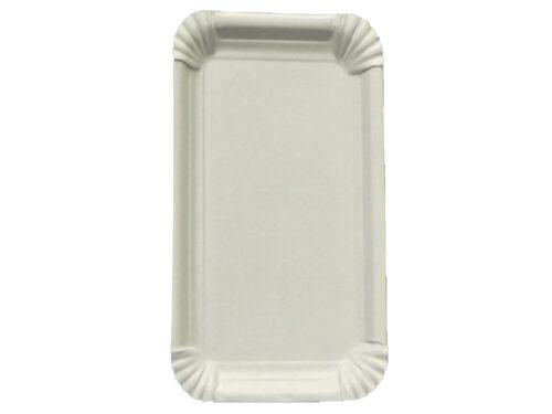 55110 125 Pappteller Kuchenteller weiß 19x33 cm Einweg Teller