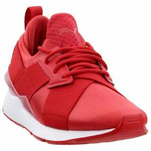 Details about Puma Muse Satin EP Pearl Sneakers Casual - Red - Womens