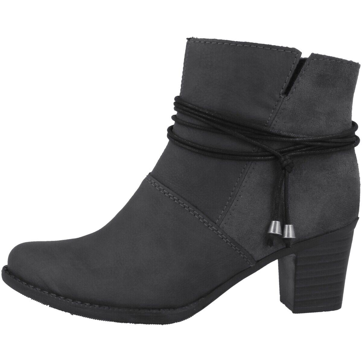 Rieker Namur-Microvelour Schuhe Damen Antistress Stiefeletten grau lead Z7656-45