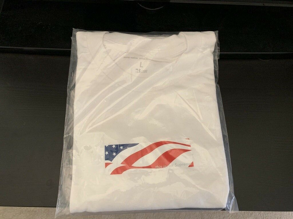 Some Notice Some Know This Supreme Box Logo Bogo USA LARGE 4th of July