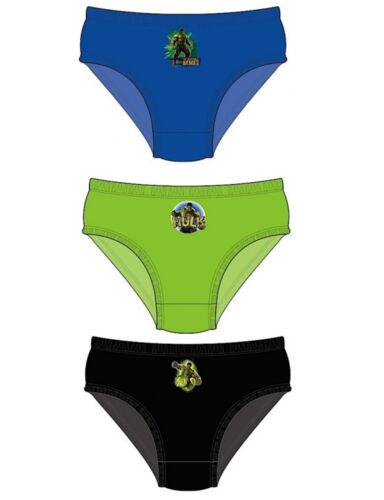 Brand New Ragazzi ufficiale Marvel Hulk Pantaloni Slip Underwear Confezione da 3