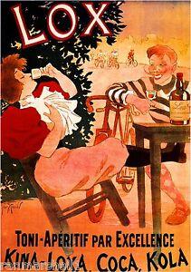 Lox' Kina Loxa Vintage French Nouveau France Poster Print Advertisement