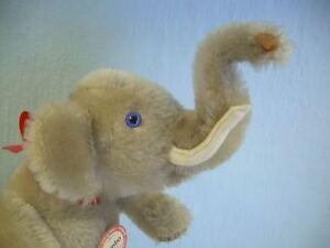 Very-Cute-STEIFF-mechanical-Jumbo-ELEPHANT-1988-0125-24-mohair-w-Box-circus-toy