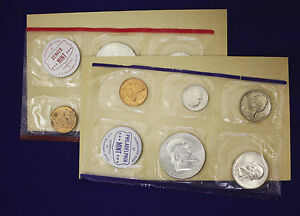 "All /""PD/"" mints 1963 Official U.S 10 Coins Mint Set Envelope Still Sealed."