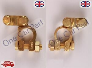 2-x-12V-Car-Battery-Terminals-Clamps-Connectors-Heavy-Duty-Brass-Bolts