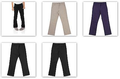 Black George Juniors/' School Uniform Flat Front Pant Size 9