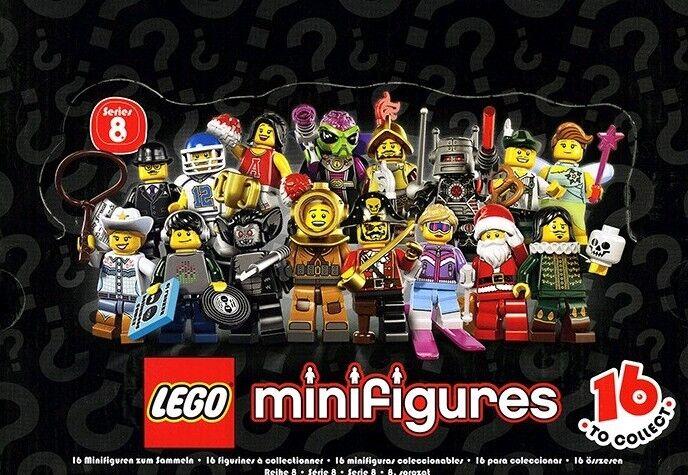 Lego Minifigure Series 8 COMPLETE SET OF 16 (minus one ski)