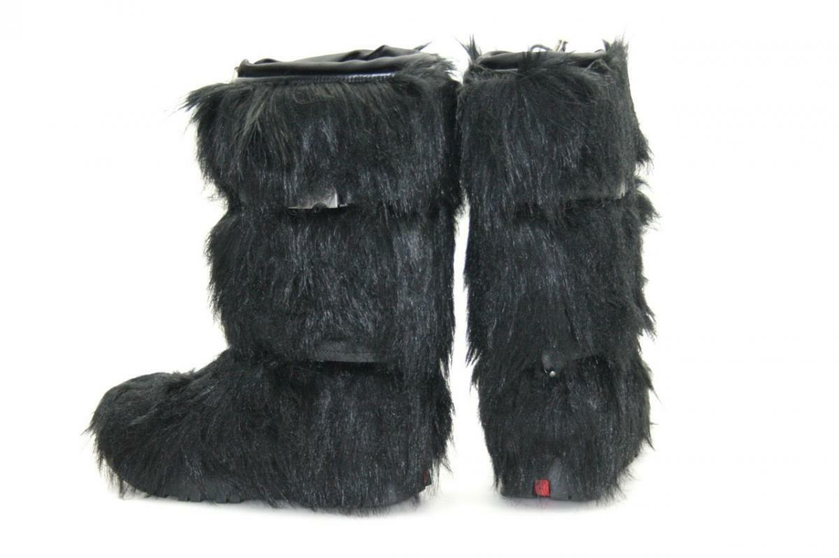 LUXURY PRADA FUR SNOW BOOTS 3W4943 BLACK NEW NIB 980.- USD US 9