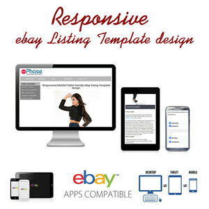 Responsive Ebay Listing Template Design Auctiva Inkfrog - Ebay product listing template
