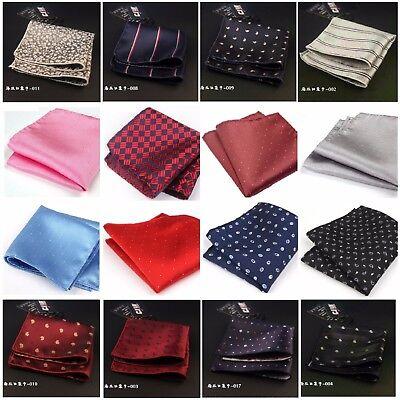 Mens Polka Dot Handkerchief Silk Pocket Square Hanky Multi Party Paisley Hankies