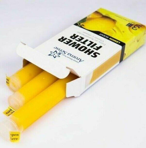 Lemon Scent Sale KNTeC Aroma Sense Refill Shower Filter Vitamin C 1Box/_ngdz