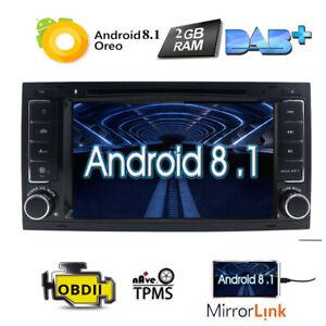 "7/"" Android 8.1 Car Stereo Radio Audio GPS Nav DAB+for VW Touareg Multivan 2008 I"