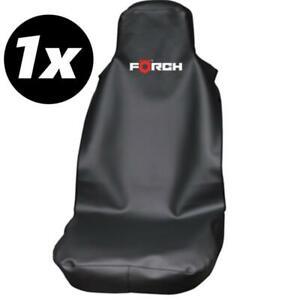 1x f rch kfz sitzschoner mit airbag zulassung kunstleder schwarz auto ebay. Black Bedroom Furniture Sets. Home Design Ideas