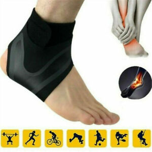 Breathable-ADJUSTABLE-ANKLE-SLEEVE-Elastic-Sports-Ankle-Brace-Foot-Support-Tool