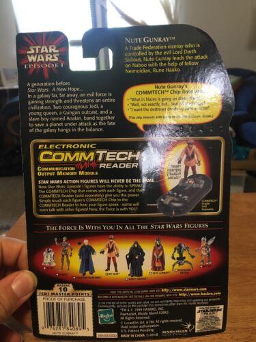 Star Wars Episode 1 Hasbro 1998 NUTE GUNRAY W// COMMTECH CHIP Action Figure  NIB