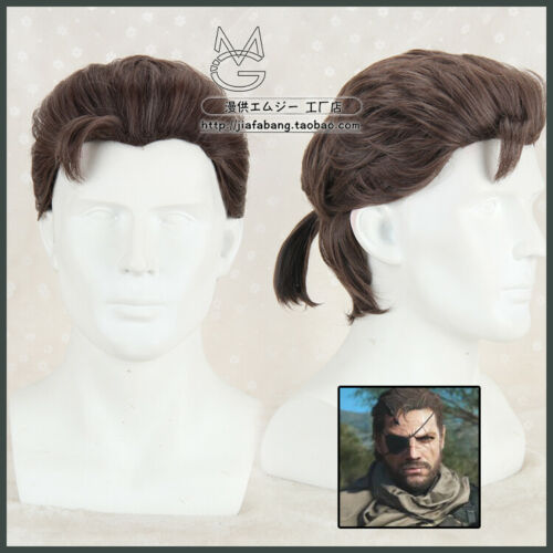 CAP+Track Metal Gear Solid Venom Snake Phantom Pain Big Boss Cosplay Wig hair