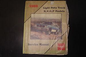 1988-Light-Duty-Truck-R-V-G-P-Models-GMC-1988-Service-Manual