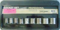 Truecraft 9 Piece Sae Socket Set 3/8 Drive
