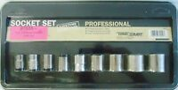 Truecraft 9 Piece Sae Socket Set 3/8 Drive