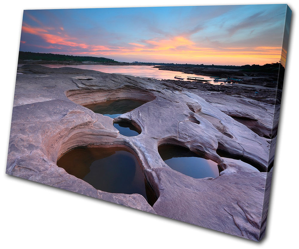 Sunset Seascape  Thailand  SINGLE TELA parete arte foto stampa