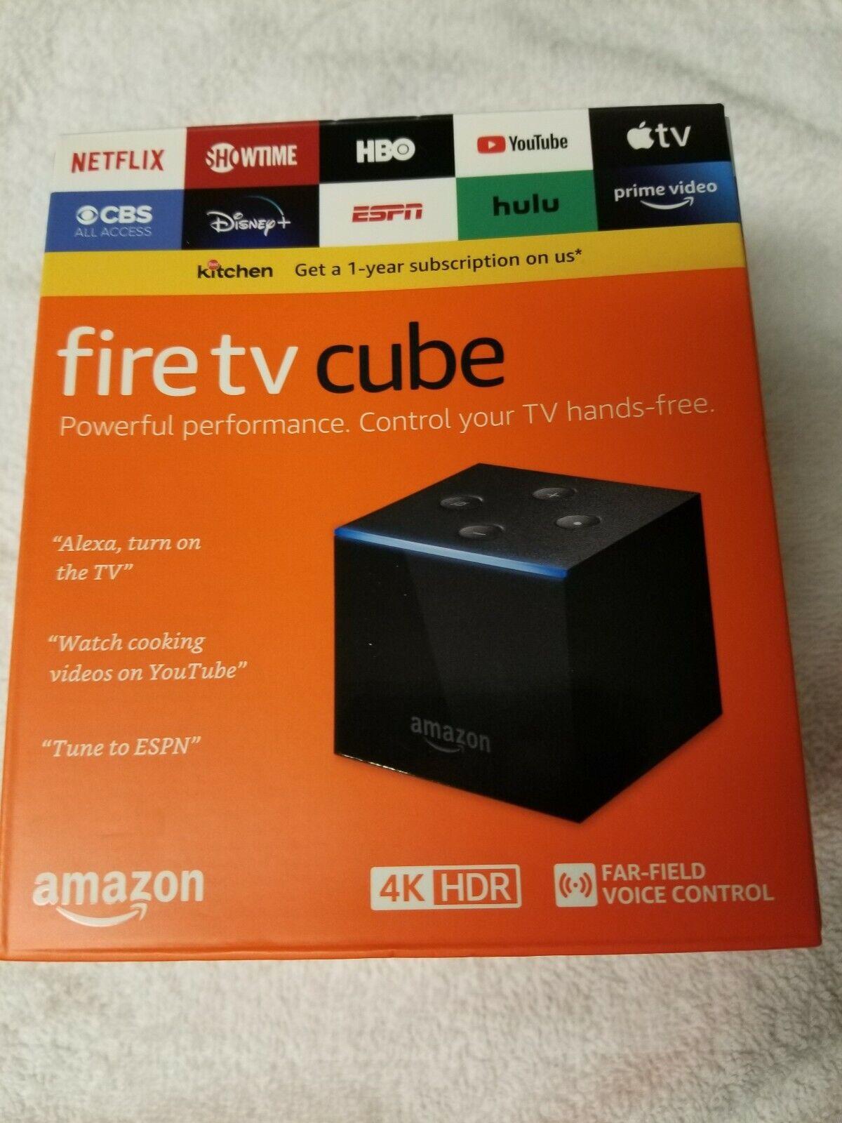 Amazon Fire TV Cube 4K Streaming Media Player and All-New Alexa Voice Control alexa amazon and control cube fire media player streaming voice