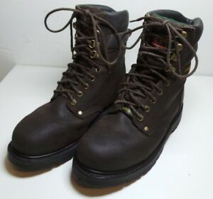 d6db3388ee8 Details about Men's Brahma Brown Leather Thinsulate Steel Toe Work Boots  Size 7 1/2 Heavy Duty