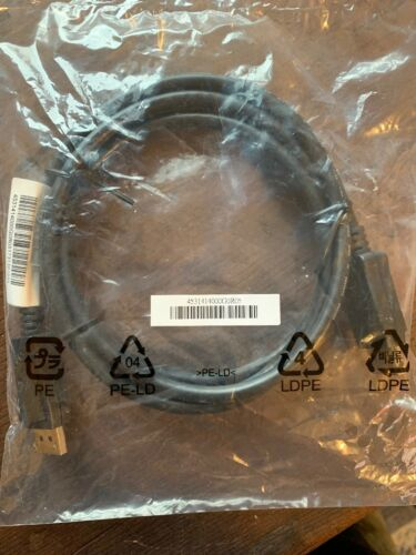 NEW FREE SHIPPING HP 6FT Display Port Male to Male Cable