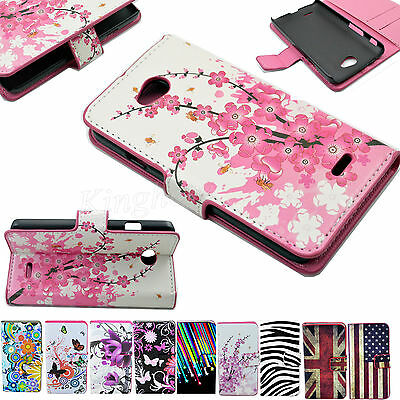 Flip Leather Wallet Holster Phone Skin Case Cover For  LG Optimus L70/Dual SIM