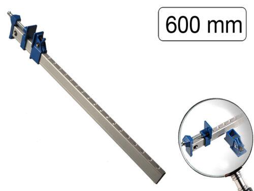 Klemmschiene 600mm Alu Metallklemme Schraubzwinge Zargenspanner Leimzwinge Holz