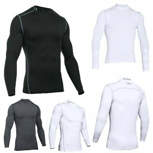 Under-Armour-Mens-UA-Sports-ColdGear-Mock-Compression-Golf-Base-Layer-Tee-Top
