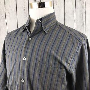 Ermenegildo-Zegna-Mens-Gray-Striped-Long-Sleeve-Button-Down-Shirt-Italy-Size-L