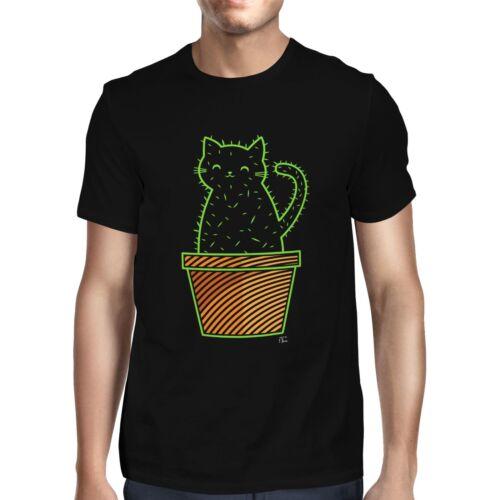 1Tee Mens Catcus Funny Cat Pun T-Shirt