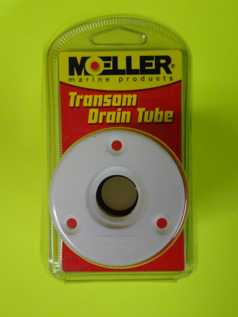 Moeller Boat Transom Drain Tube with Pipe Plug