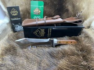 Puma-12-6390-Automesser-Knife-With-Plumwood-Handles-amp-Leather-Sheath-Mint-Box