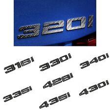 Schwarz Gl/änzend 328i Zur/ück Boot Badge Emblem Buchstaben Zahlen Kompatibel F/ür 3 Serie E93 F30 F31 F34 G20