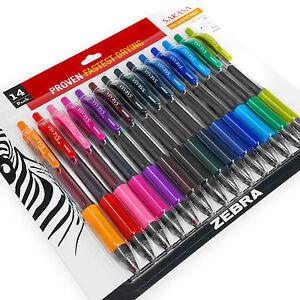 Zebra-Sarasa-Retractable-Gel-Ink-Rollerball-0-7mm-Pack-of-14-Ink-Colours