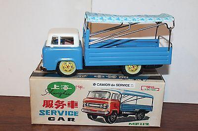 """Beliebte Marke Sehr Schön Vintage Blech Reibung Puder Shanghai Service Auto Lkw """" In Karton Blechspielzeug Spielzeug"""