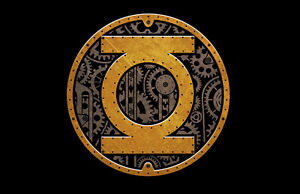 DC-GREEN-LANTERN-STEAMPUNK-SYMBOL-Logo-Adult-Licensed-T-Shirt-S-3XL